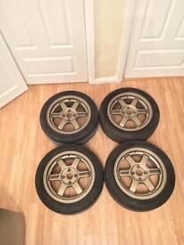 "Rota Grid 15"" Alloys Wheels 4x100 (NOT TE37 JDM racing forged civic glanza MX5)"