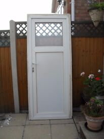 ZENITH WHITE UPVC DOUBLE GLAZED REAR/SHED DOOR (OUTWARD OPENING)