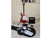 Yamaha Pacifica 012 Candy Apple Red Electric Guitar Kit Bundle