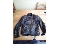 Leather motorcycle Jacket UK size 40