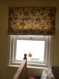 2x 45x45in Laura Ashley made-to-measure roman blind