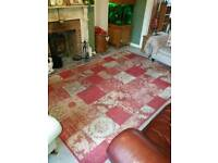 XL red patchwork rug