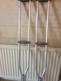Underarm crutches brand new adjustable large