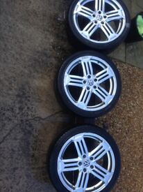 "3 VW 18"" wheels + tyres in good condition"