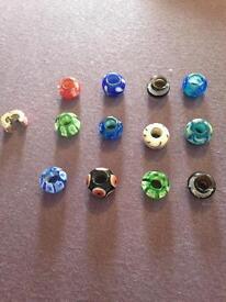 12 glass beads for link it bracelets