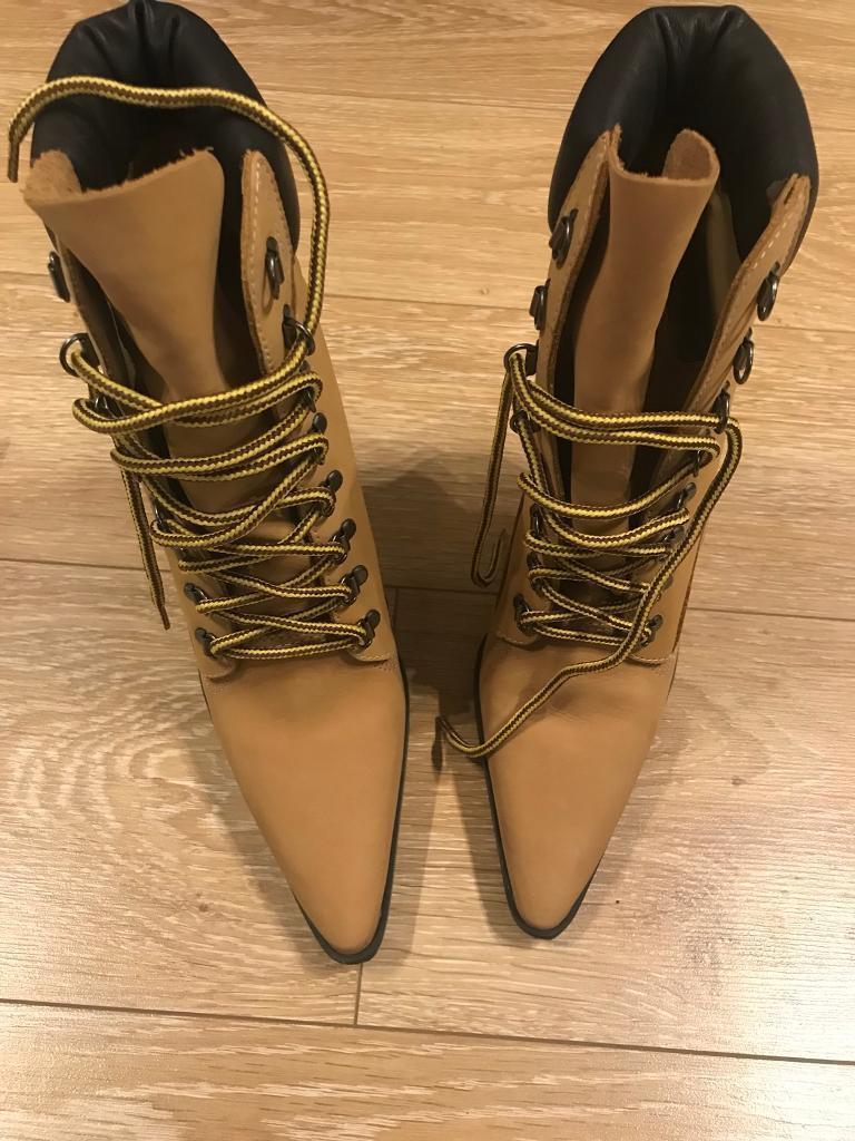 Ladies high heel Timberland/Manolo Blahnik style JLo Jenny