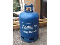 Calor Gas 15kg butane bottle with at least 5kg gas