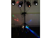 DJ Lights + T-Bar & Smoke Machine + Gig Bags