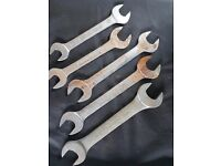 5 x Large Double Open Ended Spanners 24mm - 41mm Various