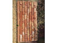 Brick tile - slips Vieuw Brabant red/white/black flamed color ref 455 WDF, Hand moulding