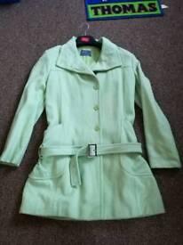 Ladies mint green coat size 14