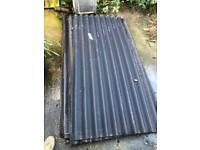 Corrugated recycled rubber roofing black