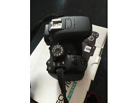Canon 700D DSLR with 50mm f1.8 lens (also 18-135mm lens) with all accessories - Canon DSLR