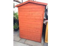 6x4 ft Solid Wood Tongue & Groove Garden Shed, 1 year old