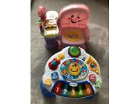 Fisher-Price laugh&Learn Musical Learning Chair + Baby Einstein Discovering Music Activity Table