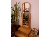 Floor standing beautiful cheval mirror with drawer