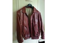 Man's Tan Leather Jacket - 44in chest (approx.)