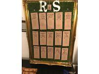 Wedding Table Plan Rustic Frame