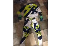 X2 motocross kits knew pads and helmets