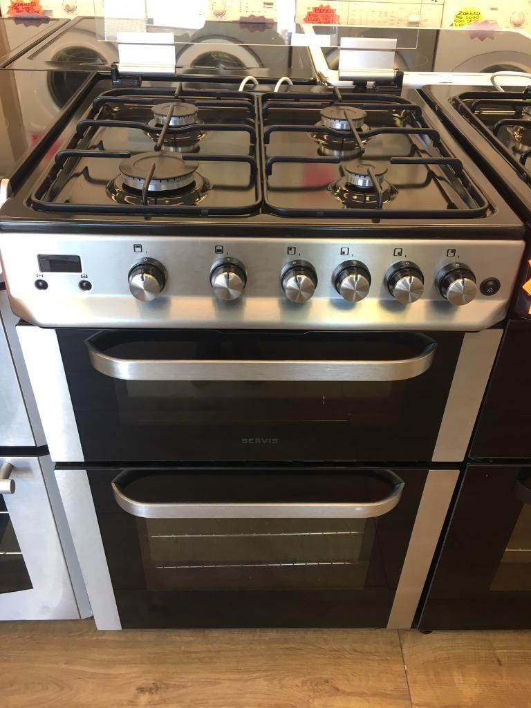 SERVIS 60CM BRAND NEW ALL GAS COOKER IN SILIVER WITH LIDin Bransholme, East YorkshireGumtree - SERVIS 60cm brand new all gas cooker • 60cm wide • brand new • all gas cooker • double oven and grill • in siliver • fully complete • guaranteed • less than 1 year old all our items are in perfect condition and in perfect working...