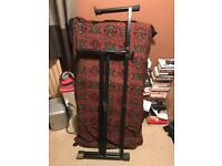 Hercules KS210B X-Style Keyboard Stand with Extra Tier.