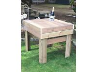Large bespoke garden dining or bar table (4 person). ,would look nice in any garden