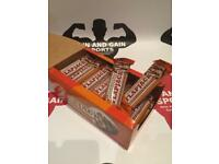 24 bars protein flapjacks, weights, Dumbbells,barbells