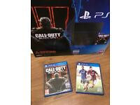 PS4 500GB matt black fully boxed excellent with 2 games