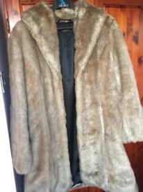 Ladies fake fur coat