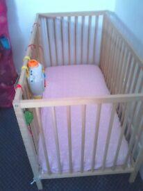 singlar cot with mattress