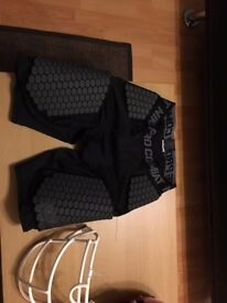 Shield XL American football pads plus Nike Compression Lower Pads