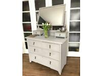 Vintage dressing table/Chest Free Delivery Ldn🇬🇧shabby chic mirror and storage