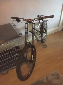 Down hill bike mtb. Bmx jump bike