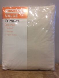 Natural coloured curtains