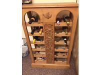 Oak Drinks Cabinet