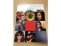FOR SALE great bands of the 80's chord book