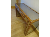 Mirror Effect Console Table with 2 drawers Great condition Glasgow West End