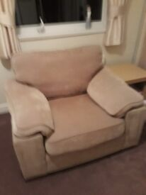 Free fabric chair in good condition. Fire safety label