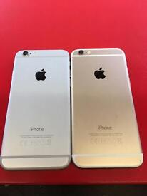 Choice of IPhone 6 gold/silver unlocked 16gb good condition