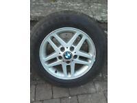 "BMW 15"" alloys with good tyres"