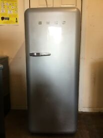 Smeg fridge freezer with ice box grey 3 months warranty free local delivery!!!!!!!!!!