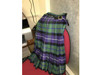 "Great Quality Gents Heavy Scottish Tartan Plaid Kilt 40"" Waist"