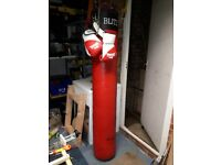 Heavy Duty Punch & Kick Bag with gloves
