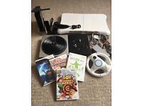Wii Games Console + Wii Fit Board + DJ Turntable + Games - Bundle / Joblot
