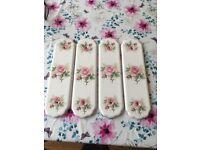 Ceramic door finger Plate rose design