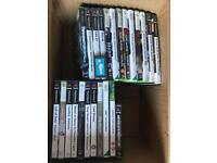 25 wii, Xbox 360 and ps2 games, all in good condition.