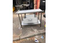 Stainless Steel Preparation Table with Draw
