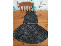 GIRLS SPARKLY OUTFIT AGED 7-8 SKIRT AND AGED 9-10 TOP
