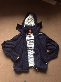 Superdry hooded Technical Pop Zip Windcheater (Nautical Navy, S)