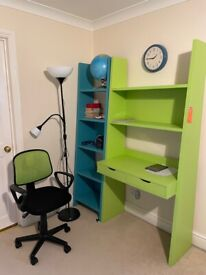 Student Desk, Chair and Bookcase